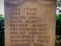 Enkel de naam van grootoom Albert Krämer op het monument van gesneuvelden, verwees naar mijn familiegeschiedenis...